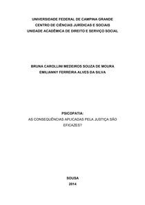 Projeto de pesquisa - Psicopatia e as consequências da justiça nesse caso