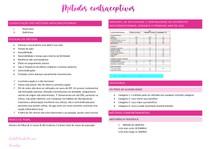Métodos contraceptivos - Rachell M Muccini