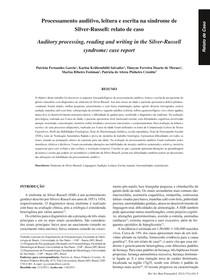 Processamento auditivo  leitura e escrita na síndrome de Silver-Russell   relato de caso
