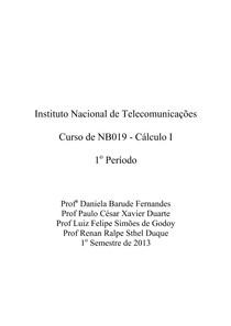 Apostila de NB019   Cálculo I