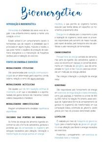 Bioenérgetica - Material Completo