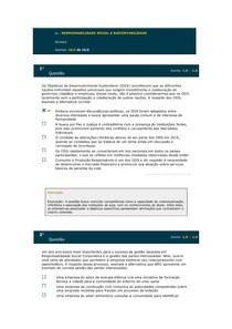 RESPONSABILIDADE SOCIAL E SUSTENTABILIDADE - simulado av