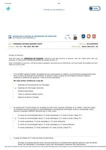 TECNOLOGIA E SISTEMA DE INFORMAÇÃO EM MARKETING teste de conhecimento aula 10