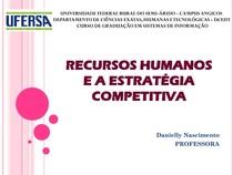1 Recurso Humanos e a Estratégia Competitiva
