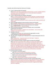 QUESTOES SOBRE ADMINISTRACAO DOS PROCESSOS DE PRODUÇÃO 3º PERÍODO - CRISTIANO DA SILVA