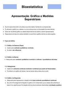 Bioestatística 04- Apresentação Gráfica e Medidas Separatrizes