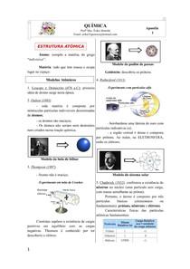 Apostila 1 - Estrutura atômica