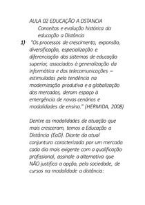 AULA 02 EDUCAÇÃO A DSTANCIA proxima prova