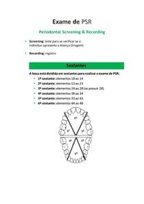 Exame de PSR