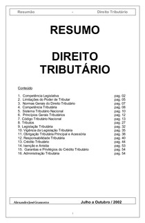 resumão de legislação tributária