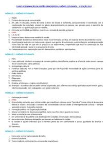 Curso de Formação em Gestão Democrática Grêmio Estudantil   1ª Edição 2017