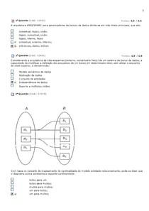 MODELAGEM DE DADOS - VÁRIAS QUESTÕES DE PROVAS