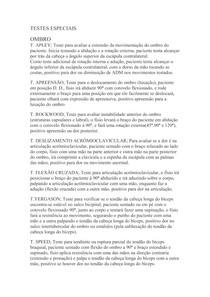 TESTES ESPECIAIS - semiologia
