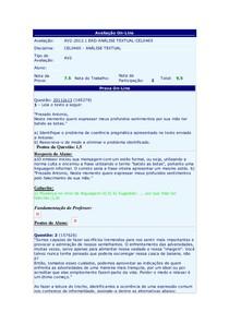 Prova AV2 - Análise Textual