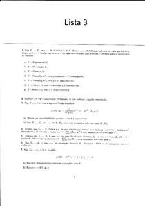Lista 3 + Resolução (família exponencial e estimação pontual - EMV)