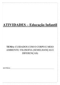 sugestões de atividades Educação Infantil
