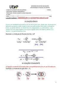 Hibridizacao E A Geometria Molecular Quimica Inorganica I