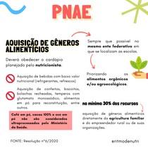 AQUISIÇÃO DE GÊNEROS ALIMENTÍCIOS - PNAE