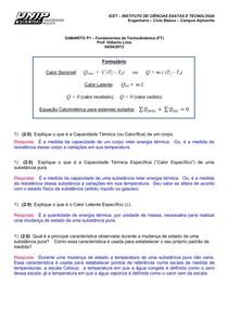Gabarito P1FUNDAMENTOS TERMODINAMICA