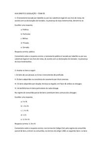AVA - DIREITO E LEGISLAÇÃO - TEMA 5 AO 8