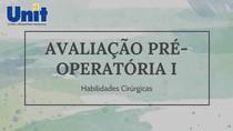 Avaliação pré-operatória I