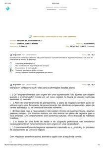 AVALIANDO O APRENDIZADO 2 - CONSTITUIÇÃO E LEGALIZAÇÃO DE PEQ. E MÉD. EMPRESAS