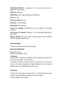 PLANO DE AULA HOPITALA
