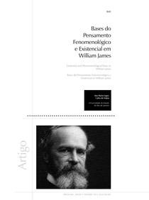 Bases do Pensamento Fenomenológico e Existencial em William James