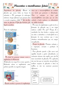 Placentas e membranas fetais