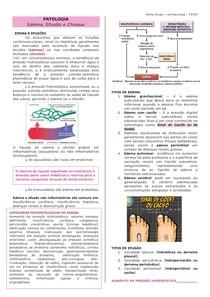 patologia - edema efusão e choque