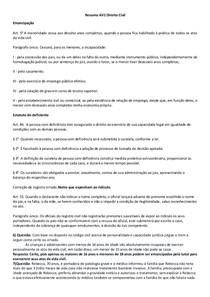 Resumo AV1 Direito Civil