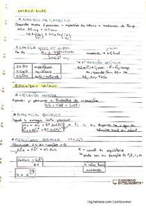 Resumo Físico-química: energia livre e equilíbrio