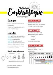 RESUMO: Introdução à Embriologia
