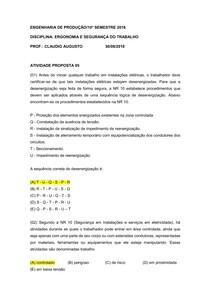 Estudo dirigido 05 ergonomia