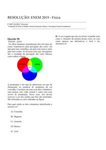 RESOLUÇÃO: ENEM 2019 - Física - Questão 98