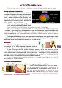 Medicação Intracanal - Endodontia