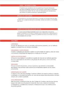 Trajetória do banco Santander