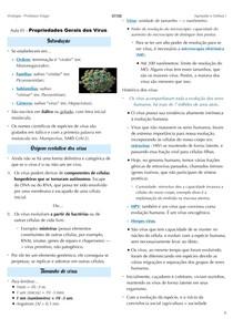 Propriedades Gerais da Virologia I