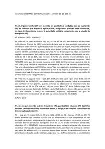 ESTATUTO DA CRIANÇA E DO ADOLESCENTE – ARTIGOS 21  22  23 E 24