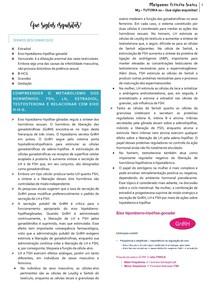 METABOLISMO HORMONAL + CICLO MENSTRUAL + FECUNDAÇÃO E 1ª A 3ª SEMANAS GESTACIONAIS + EXAMES DE GRAVIDEZ + MÉTODOS CONTRACEPTIVOS