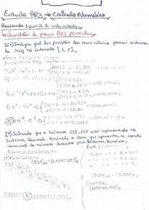 Revisao Ap3. Calculo Numerico. Prof. Onesimo.