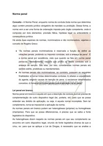Direito Penal - Norma Penal