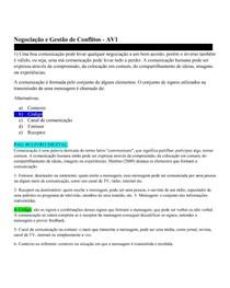 Negociação e Gestão de Conflitos   AV1 [OK]