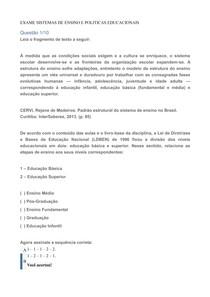 OBJETIVA SISTEMAS DE ENSINO E POLITICAS EDUCACIONAIS