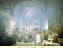 Alphonse Mucha - Mestre Jan Hus Pregação no Chapel.jpg Belém