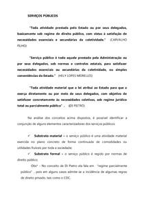 Aula SERVIÇOS PÚBLICOS   primeira parte
