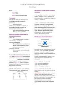 Controle do Crescimento Bacteriano