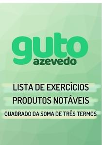 Lista de Exercícios | Produtos Notáveis | Quadrado da soma de três termos