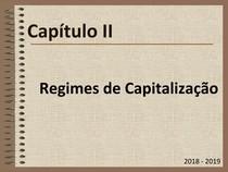 Matemática financeira Capítulo II.3   Regimes de Capitalização   Taxas de Juro UALG ESGHT