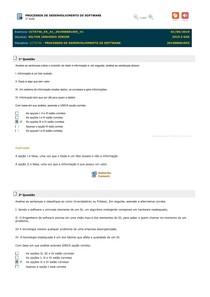 Exercicios - PROCESSOS DE DESENVOLVIMENTO DE SOFTWARE